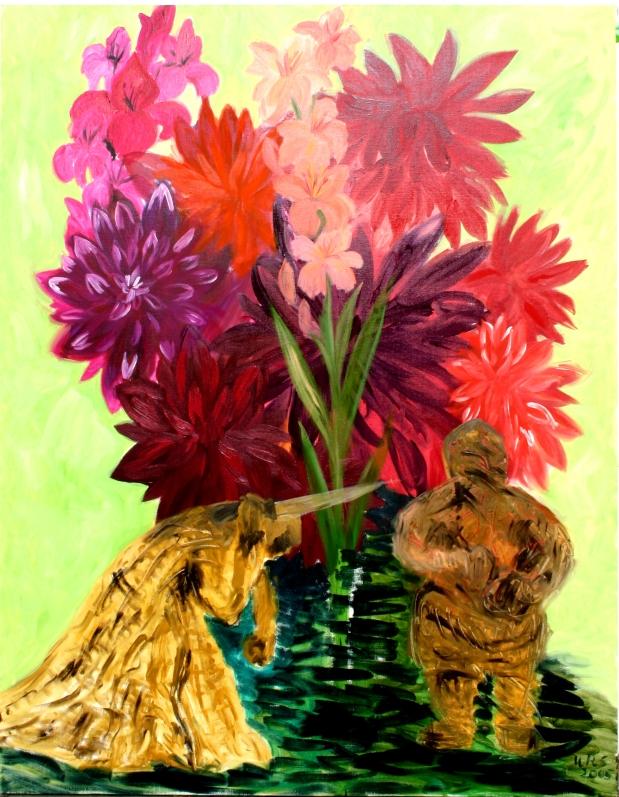 1 to mærkelige skikkelser i blomsterhaven