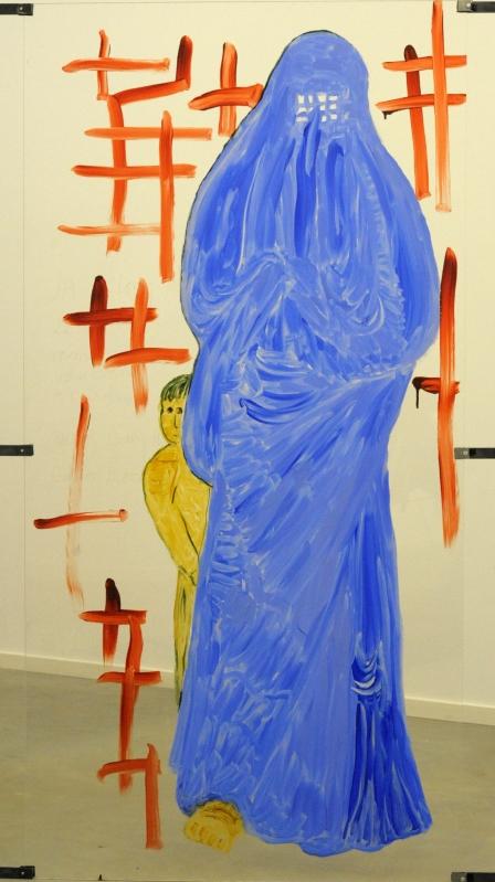 En burkaklædt kvinde (2013)