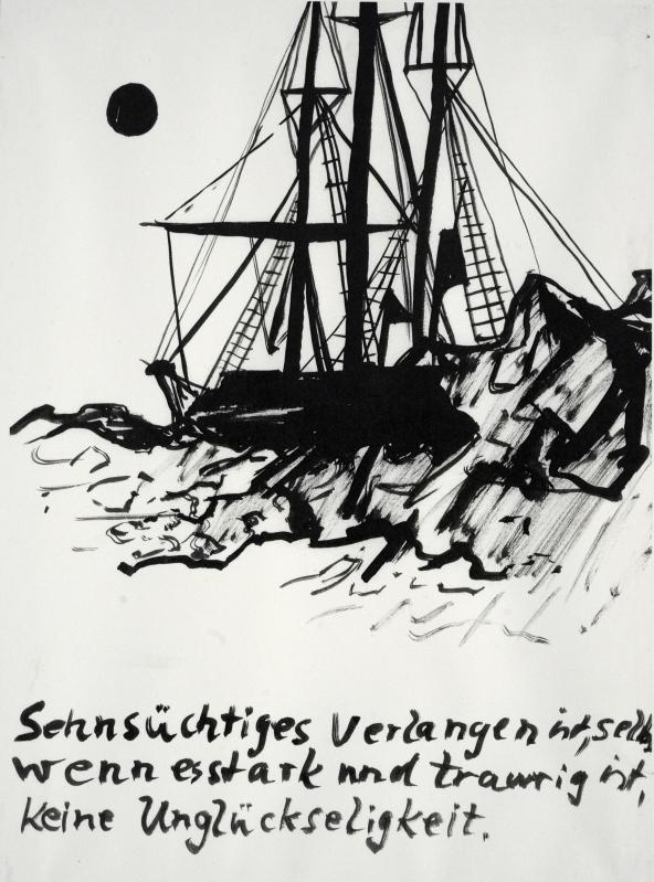 Ursula Reuter Christiansen - Nansen Plakat - Steine im Fluss, Sten i Floden - Kunsthal 44 Møen - 2013 © York Wegerhoff YW~7